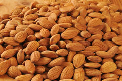Organic almonds Stock Photos