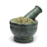 Organic Aniseed & x28;Pimpinella anisum& x29; on marble pestle. Royalty Free Stock Photography