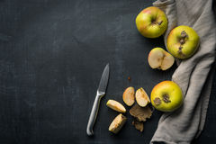 Organic Apple food background Stock Images