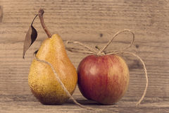 Organic apple and pear Stock Images
