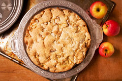 Organic apple pie Royalty Free Stock Images