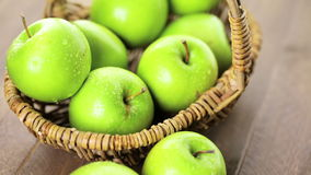 Organic apples stock video footage