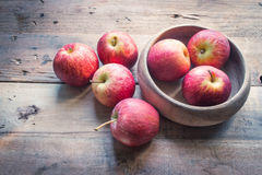 Organic apples. Is suitable for food aid in weight control. Reducing food Although Apple has brown body, but it can be absorbed and utilized. Within ten Stock Photo