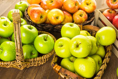 Organic apples Royalty Free Stock Images