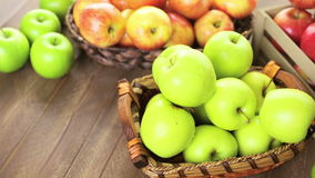 Organic apples stock footage