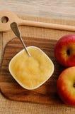 Organic applesauce Stock Photo