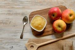 Organic applesauce Stock Photos