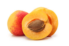 Organic apricots Stock Images
