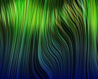 Organic Art Molten Plastic Vertical StrandsGreen Stock Photography