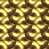 Organic Art Round Metal Plates Gold Seamless Royalty Free Stock Photography
