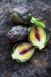 Organic Artichokes Royalty Free Stock Images
