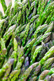 Organic asparagus Stock Image