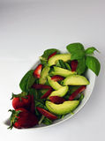 Organic Avocado Strawberry Spinach Salad Royalty Free Stock Photography