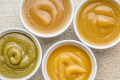Organic baby food or snack Royalty Free Stock Photos