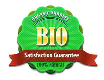 Organic badge. An illustration of a badge for organic product  on white Royalty Free Stock Image