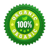 100% Organic Badge Label Isolated. On white background. 3D render royalty free illustration