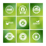 Organic Badges Royalty Free Stock Photos