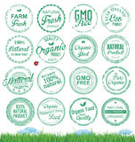 Organic Badges grunge stamp Royalty Free Stock Images