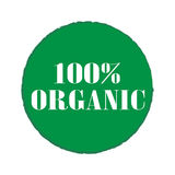 100% Organic badges and stickers. Design stock illustration