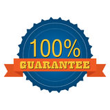 100% Organic badges and stickers. Design vector illustration