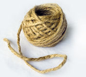 Organic ball made of natural fiber Stock Image