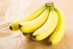 Organic Bananas. Fresh organic bananas as background stock photography
