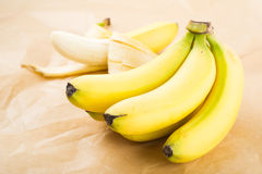Organic Bananas. Fresh organic bananas as background royalty free stock photography