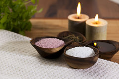 Organic bath ingredients Stock Photos