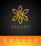 Organic Beauty Cosmetic Leaves Logo Stock Photography