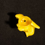 Organic beeswax elephant shape candle top view Stock Photo