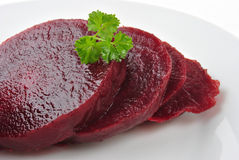 organic beet root on a white plate Stock Photo