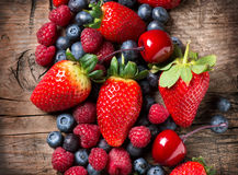 Organic Berries Royalty Free Stock Photos