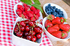 Organic berry fruits Royalty Free Stock Photos