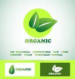 Organic bio food logo Royalty Free Stock Photos