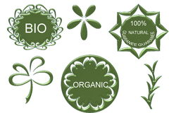 Organic bio natural icon. On white Stock Images