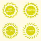 Organic, bio, natural logotype design template Stock Images