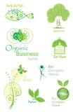 Organic&Bio vektorsamling Arkivbilder
