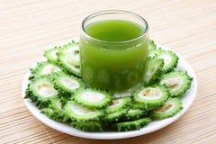 Organic bitter gourd juice Stock Photos