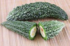 Organic  Bitter melon , Bitter gourd Stock Photography
