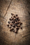 Organic black pepper and allspice Royalty Free Stock Photos
