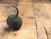Organic black radish on a rustic wooden table. With space for text or image Stock Image