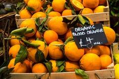 Organic Blood Oranges at Borough Market royalty free stock photography