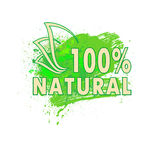 Organic blot 01. The sign natural product, vector illustration clip-art stock illustration