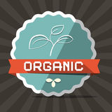 Organic Blue Retro Vector Label Royalty Free Stock Images