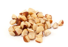 Organic Brazil Nut on white background Royalty Free Stock Photo