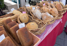 Organic Bread at Farmers Market Royalty Free Stock Photos