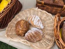 Organic Bread at Farmers Market Stock Photos