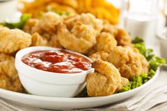 Organic Breaded Popcorn Shrimp Royalty Free Stock Photos