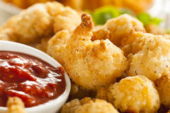 Organic Breaded Popcorn Shrimp Royalty Free Stock Image