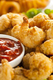 Organic Breaded Popcorn Shrimp Royalty Free Stock Photo